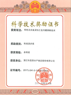 湖北省科技进步三等奖